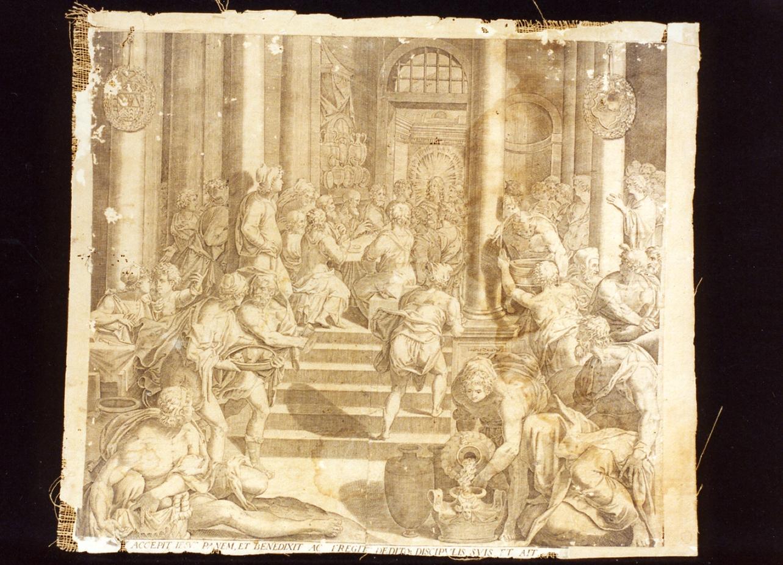 ultima cena (stampa) - ambito italiano (seconda metà sec. XVI)