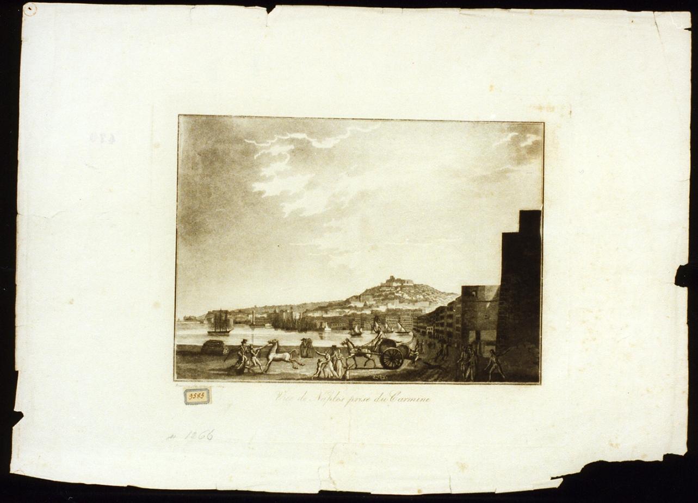 veduta di Napoli dal Carmine (stampa) - ambito francese (sec. XIX)