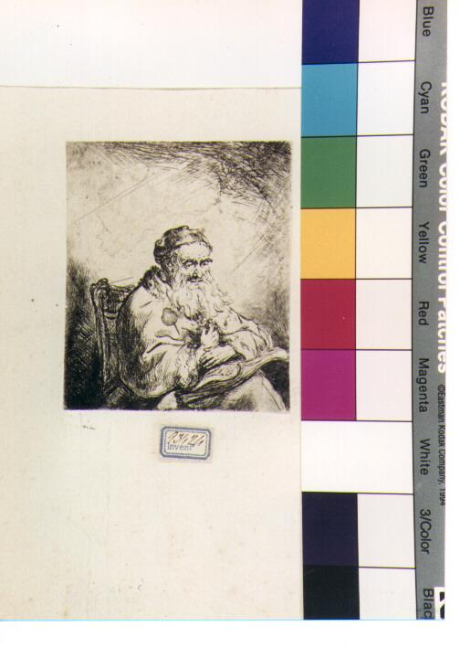 figura maschile (stampa) di Van Rijn Rembrandt Harmenszoon (CERCHIA) (prima metà sec. XVII)