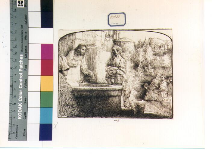 Cristo e la samaritana (stampa) di Van Rijn Rembrandt Harmenszoon (sec. XVII)
