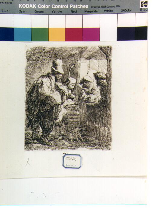 musici (stampa) di Van Rijn Rembrandt Harmenszoon (secondo quarto sec. XVII)