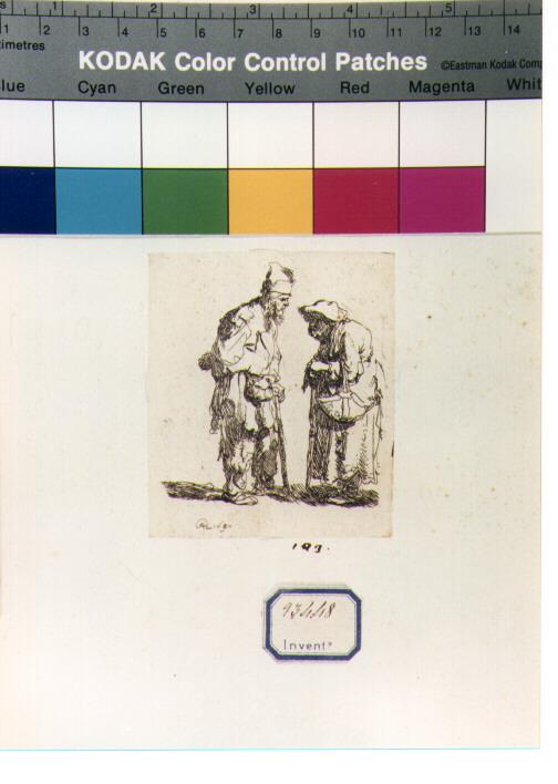 mendicanti (stampa) di Van Rijn Rembrandt Harmenszoon (sec. XVII)