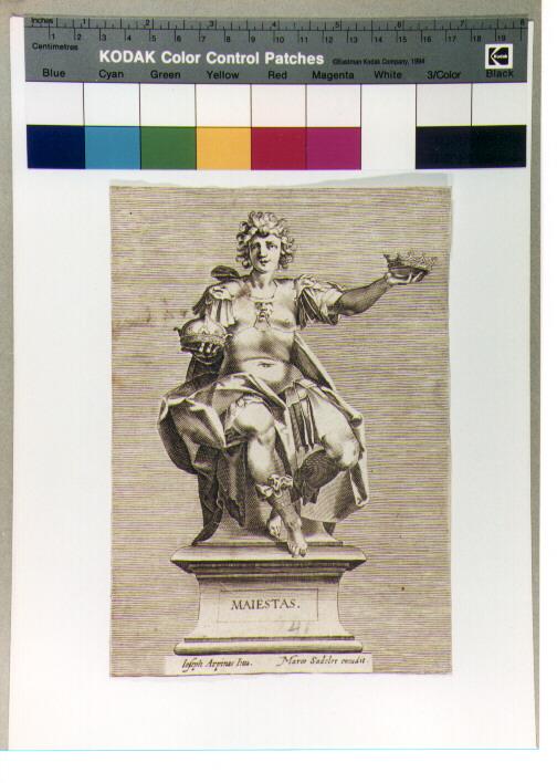 figura allegorica femminile (stampa) di Sadeler Marcus Christoph (CERCHIA), Cesari Giuseppe detto Cavalier d'Arpino (CERCHIA) (sec. XVII)