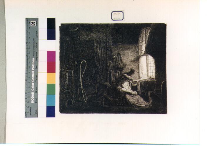 Sacra Famiglia (stampa) di Van Rijn Rembrandt Harmenszoon (secondo quarto sec. XVII)