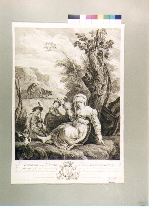 allegoria della vita umana (stampa) di Thomassin Simon Henri, Fetti Domenico (secc. XVII/ XVIII)