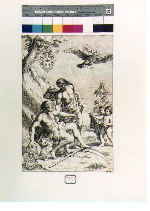 figura allegorica (stampa) di Bassano Cesare (secc. XVI/ XVII)