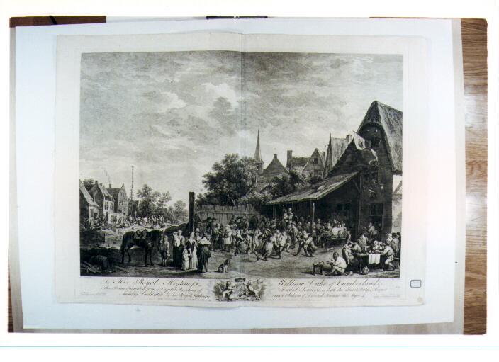 scena campestre con figure (stampa) di Teniers David il Giovane, Major Thomas (sec. XVIII)