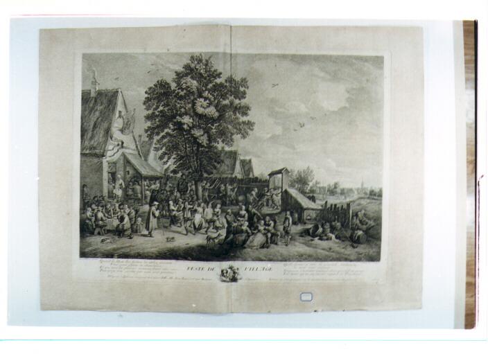 festa del villaggio (stampa) di Teniers David il Giovane, Le Bas Jacques Philippe (sec. XVIII)