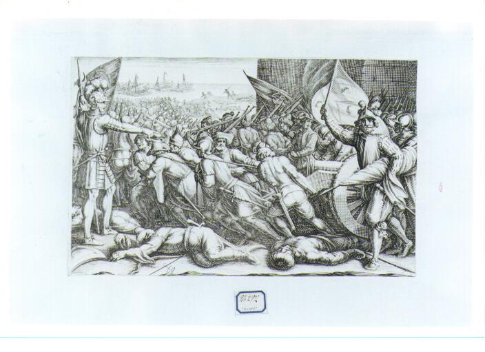 reimbarco delle truppe (stampa) di Rosselli Matteo, Callot Jacques (sec. XVII)