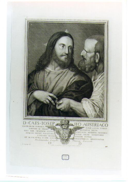tributo della moneta (stampa) di Gregori Ferdinando (sec. XIX)
