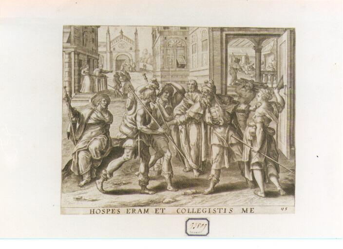 Sette Opere di Misericordia: Ospitare I Pellegrini (stampa) di De Vos Marten (sec. XVI)