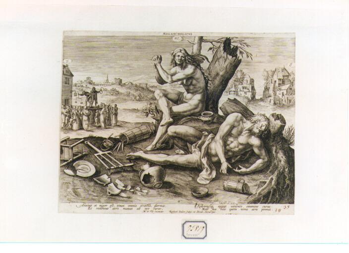 Allegoria del temperamento umano (stampa) di Sadeler Raphael I (secc. XVI/ XVII)