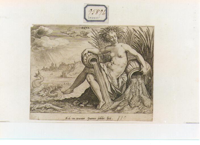 Allegoria dei quattro Elementi: Acqua (stampa) di Sadeler Jan il Vecchio (seconda metà sec. XVI)