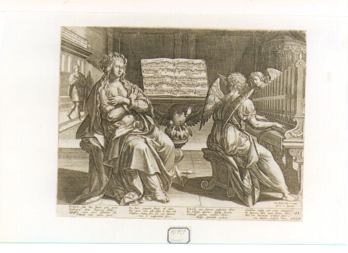 Santa Cecilia (stampa) di Sadeler Jan il Vecchio (seconda metà sec. XVI)