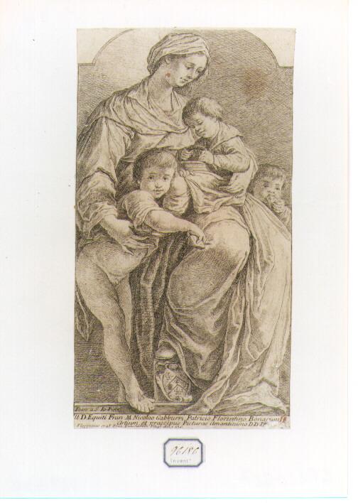 Carità (stampa) di Zuccarelli Francesco (sec. XVIII)