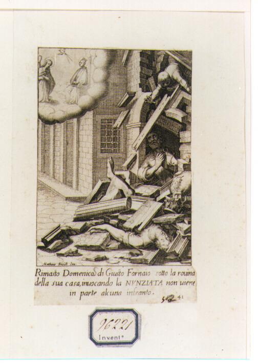 Miracoli della Santissima Annunziata (stampa) - ambito fiorentino (sec. XVII)