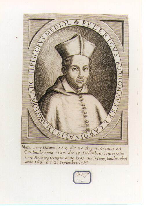 Ritratto del Cardinale Federico Borromeo (stampa) - ambito francese (sec. XVII)