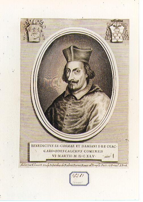 Ritratto del Cardinale Odescalchi (stampa) di Clouwet Albertus (sec. XVII)