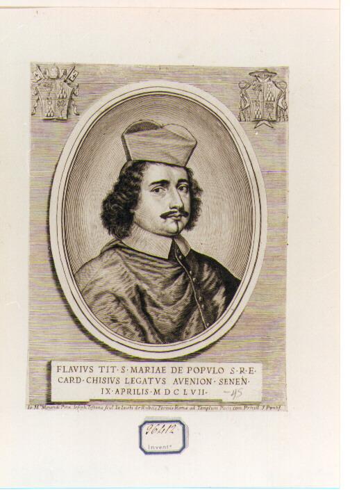 Ritratto del Cardinale Flavio Chigi (stampa) di Testana Giuseppe Maria (sec. XVII)