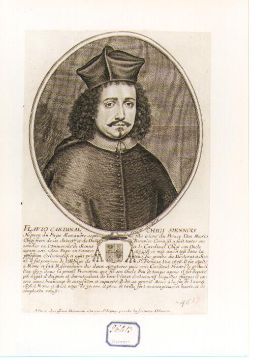 Ritratto del Cardinale Flavio Chigi (stampa) di Frosne Jean (sec. XVII)