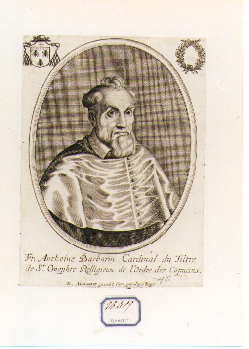 Ritratto del Cardinale Antonio Barberini (stampa) - ambito francese (sec. XVII)