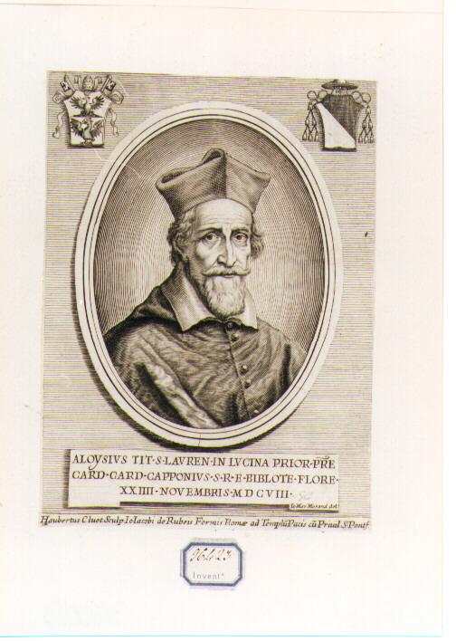 Ritratto del Cardinale Aloisio Capponi (stampa) di Clouwet Albertus (sec. XVII)