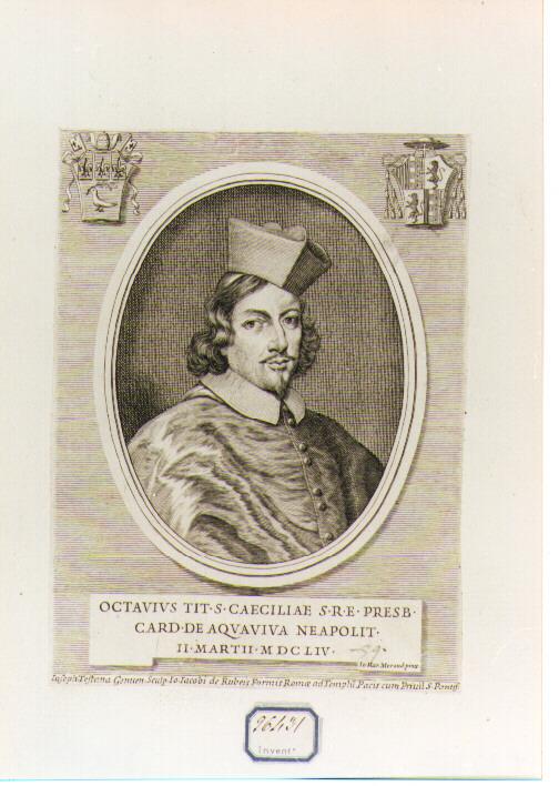Ritratto del Cardinale Ottavio Acquaviva (stampa) di Morandi Giovanni Maria (sec. XVII)