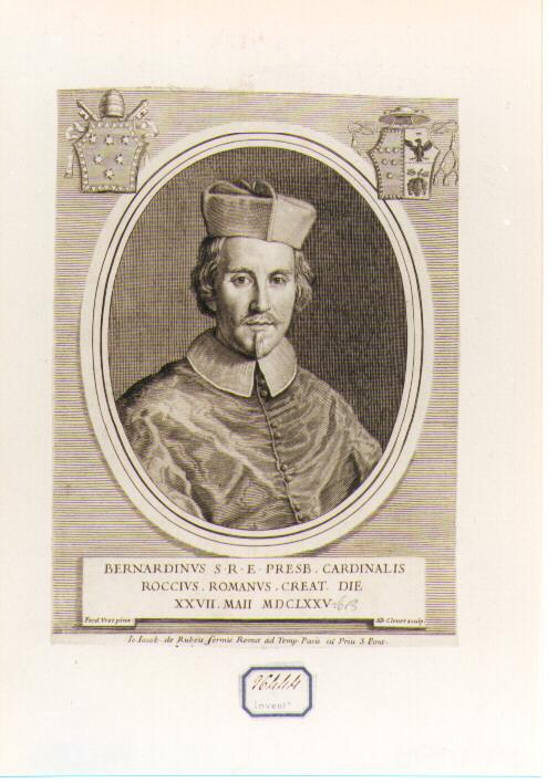 Ritratto del Cardinale Bernardino Rocci (stampa) di Voet Ferdinand (sec. XVII)