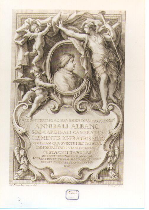 Ritratto del Cardinale Annibale Albano (stampa) di Gregori Carlo (sec. XVII)