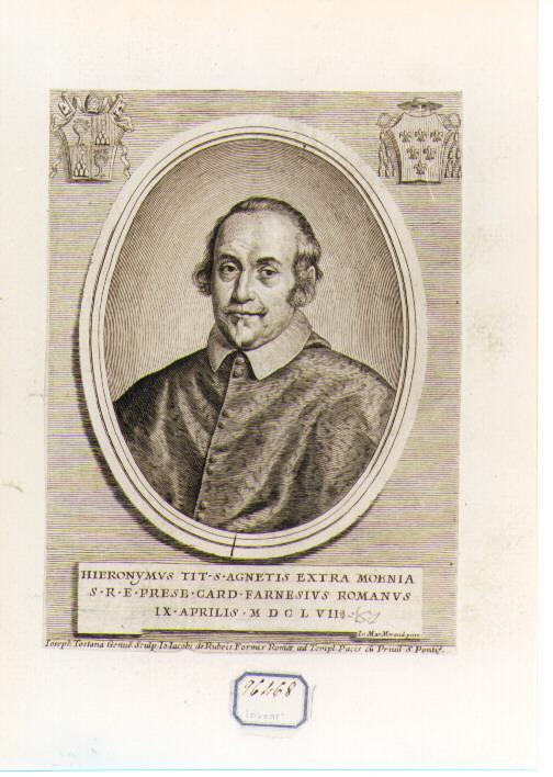 Ritratto del Cardinale Girolamo Farnese (stampa) di Morandi Giovanni Maria (sec. XVII)