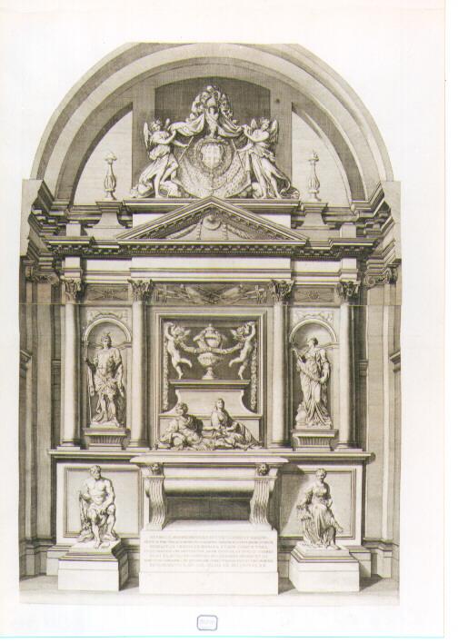 monumento sepolcrale del Duca di Montmorency e della Moglie (stampa) - ambito francese (sec. XVII)