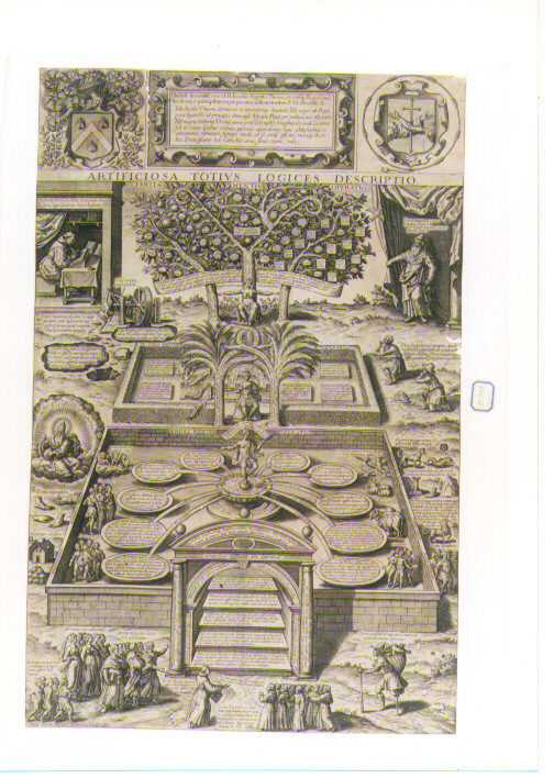 Allegoria del Sapere (stampa) di Gaultier Leonard (sec. XVII)