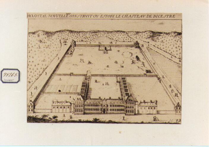 veduta dell'hospital Nouvelle (stampa) di De La Boissière Gilles Jodelet (ultimo quarto sec. XVII)