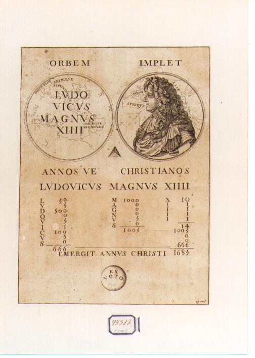 Allegoria della Fortuna di Luigi XIV (stampa) - ambito francese (sec. XVII)