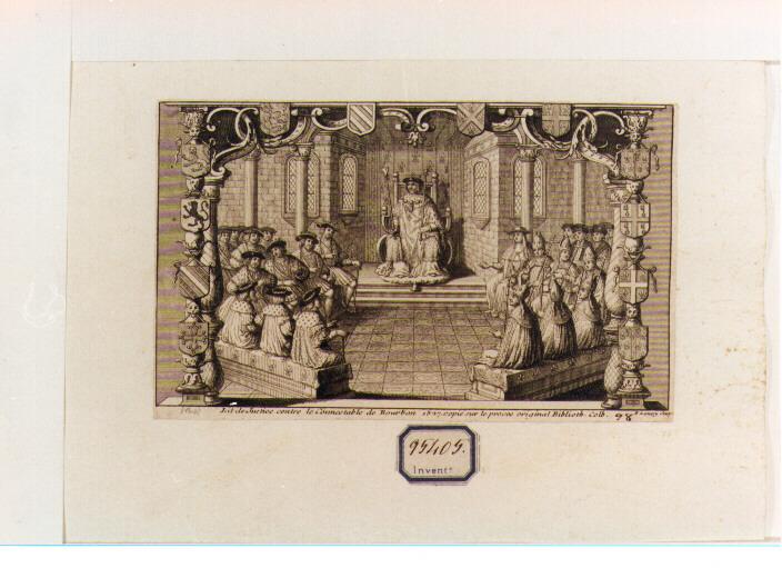 processo contro il Connestabile di Bourbon (stampa) - ambito francese (sec. XVIII)