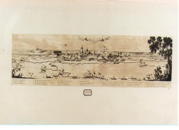 assedio di Hesdin (stampa) di Cochin Nicolas (sec. XVII)
