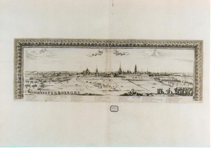 assedio di Arras (stampa) di Cochin Nicolas (sec. XVII)