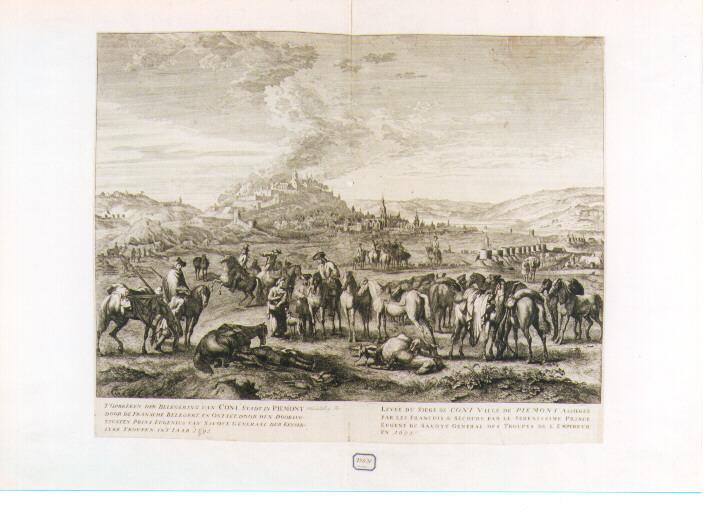 fine dell'assedio di Coni (stampa) di Van Huchtenburg Jan (sec. XVIII)