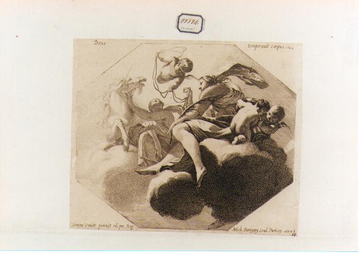 Temperanza (stampa) di Dorigny Michel, Vouet Simon (sec. XVII)