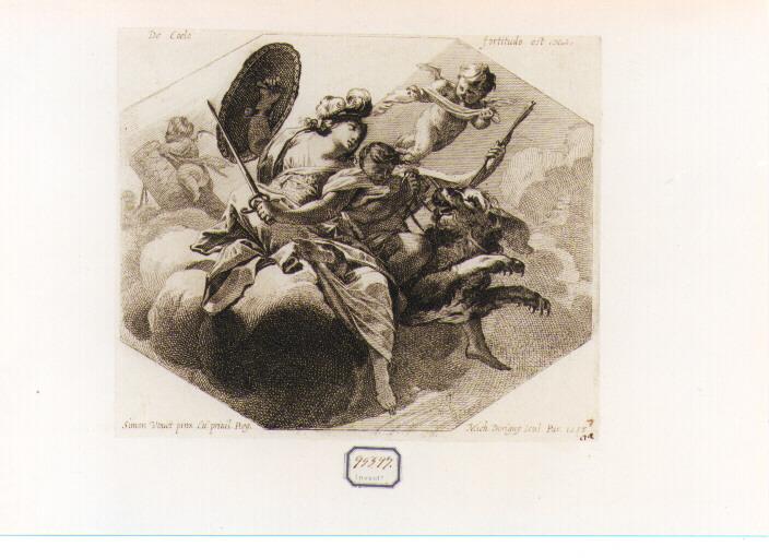 Fortezza (stampa) di Vouet Simon, Dorigny Michel (sec. XVII)