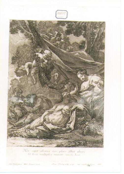Allegoria della Fertilità (stampa) di Vouet Simon, Dorigny Michel, Tortebat François (sec. XVII)