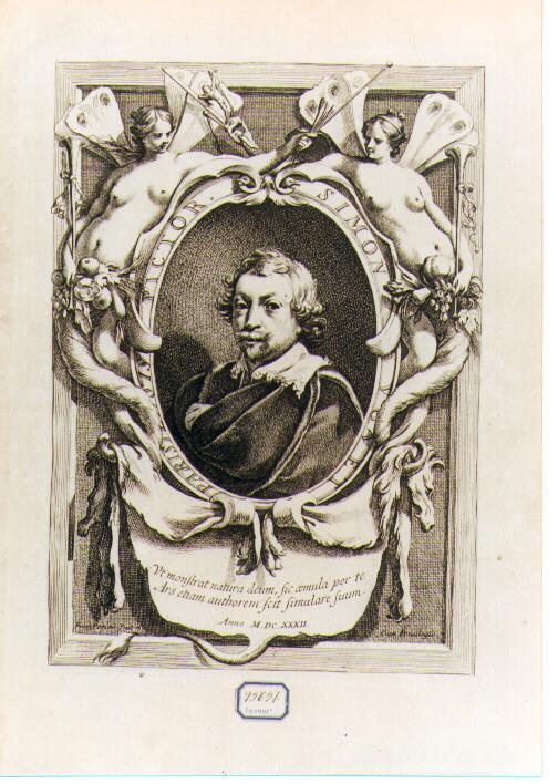 Autoritratto di Vouet (stampa) di Vouet Simon, Perrier François (sec. XVII)