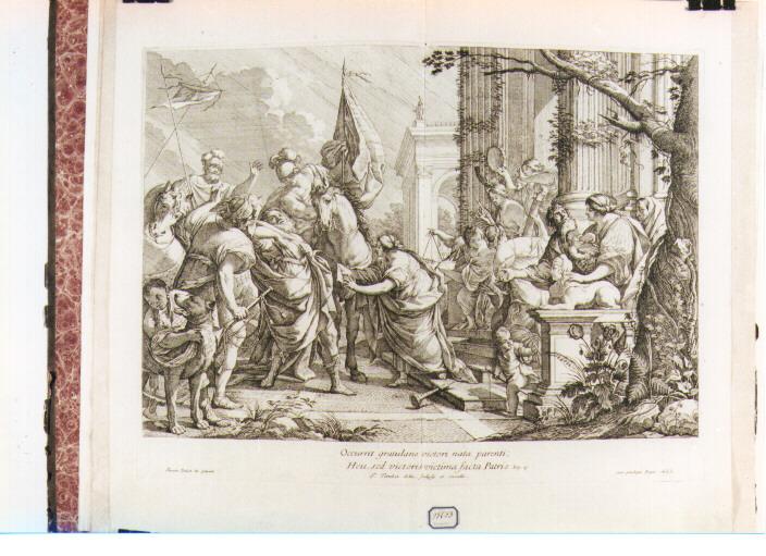 scena biblica (stampa) di Tortebat François, Vouet Simon (sec. XVII)