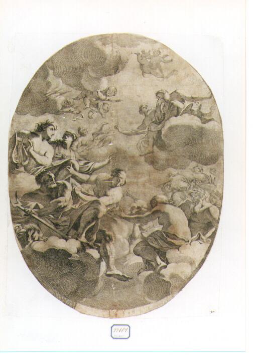 concilio degli dei (stampa) di Dorigny Michel, Vouet Simon (sec. XVII)