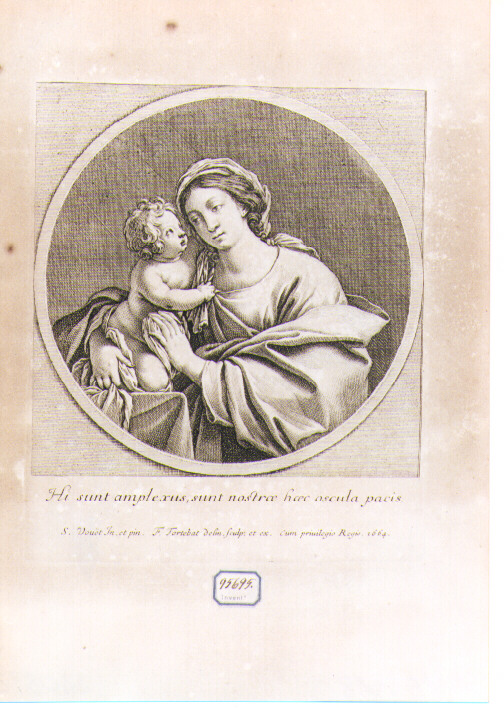 Madonna con Bambino (stampa) di Tortebat François, Vouet Simon (sec. XVII)