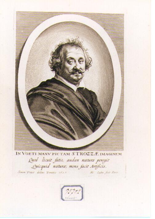 ritratto di un membro della famiglia Strozzi (stampa) di Lasne Michel, Vouet Simon (sec. XVII)