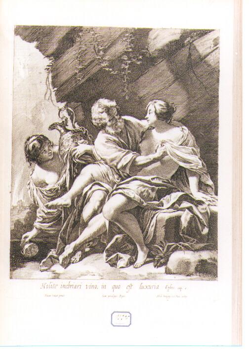 Lot e le figlie (stampa) di Vouet Simon, Dorigny Michel (sec. XVII)