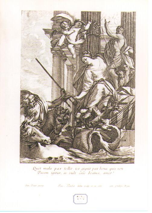 allegoria della pace (stampa) di Tortebat François, Vouet Simon (sec. XVII)