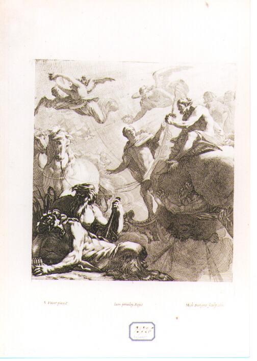Giove affida ad Apollo la guida del carro del Sole (stampa) di Dorigny Michel, Vouet Simon (sec. XVII)