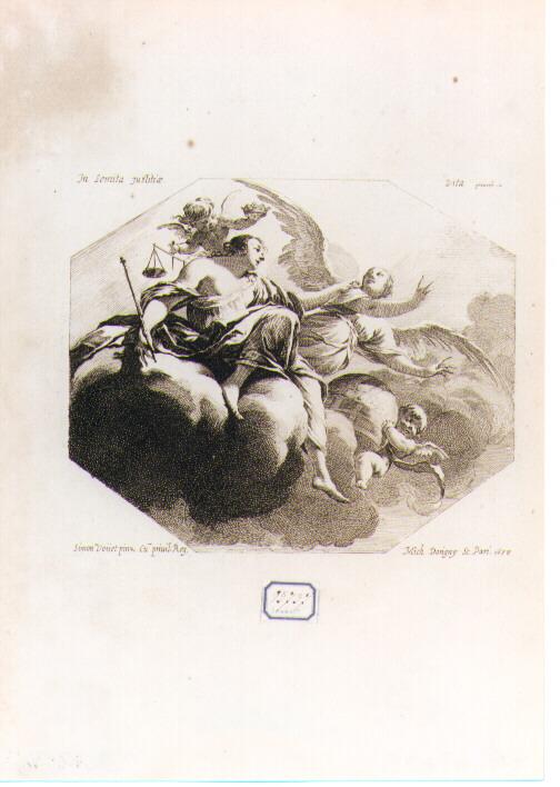 Giustizia (stampa) di Vouet Simon, Dorigny Michel (sec. XVII)